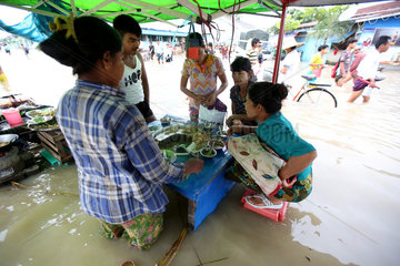 MYANMAR-YANGON-HIGH TIDE-FLOOD