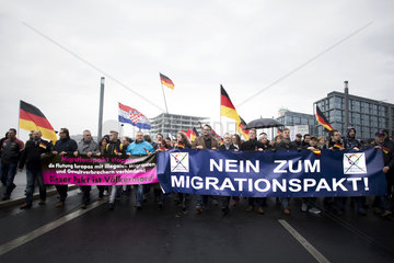 Right-Wing Demonstration against UN Migration Pact