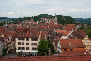 Tuebingen  Deutschland  Dachlandschaft der Altstadt