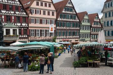 Tuebingen  Deutschland  Marktplatz in der Altstadt