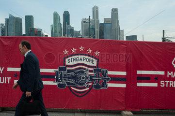 Singapur  Republik Singapur  Finanzdistrikt in Marina Bay