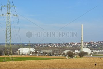 Das Kernkraftwerk bzw. Atomkraftwerk Neckarwestheim im Landkreis Heilbronn  Deutschland