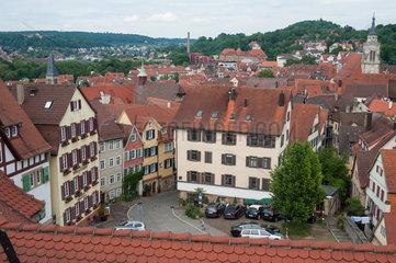 Tuebingen  Deutschland  Ein Blick auf die Altstadt