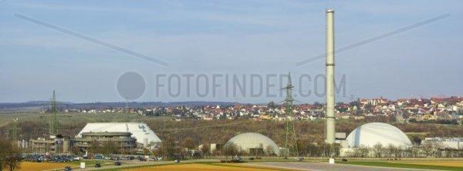 KKW Neckarwestheim bei Heilbronn  mit zwei Reaktoren ausgestattet  Baden-Wuerttemberg  Deutschland