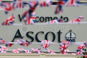 Ascot  Grossbritannien  Schriftzug - Welcome to Ascot -