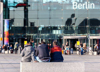 am Hauptbahnhof in Berlin