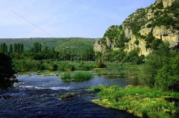 KRKA Nationalpark  Roskji slap  Kroatien