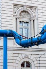 Rohrleitungen an einer Baustelle