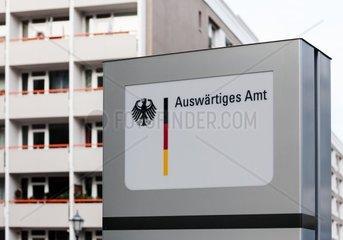 Hinweisschild in Berlin Mitte