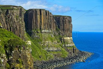 Kilt Rock Basaltklippen bei Staffin  Isle of Skye  Schottland  Grossbritannien