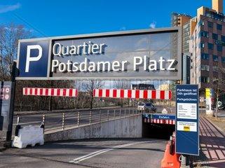 Parkhaus am Potsdamer Platz in Berlin Mitte