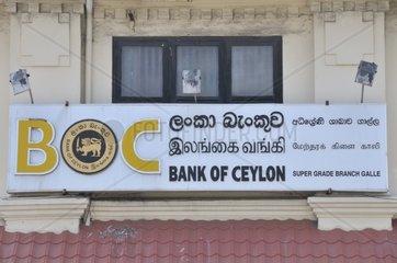 Bank of Ceylon  BOC  staatliche Geschaeftsbank in Sri Lanka  Galle  Sri Lanka  Suedasien  Asien