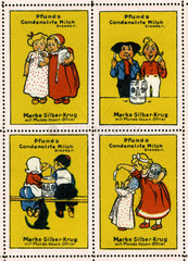 Dresdner Molkerei Gebrueder Pfund  Reklamemarken  1913