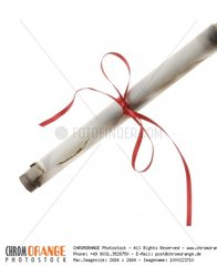 Isolated Paper Scroll