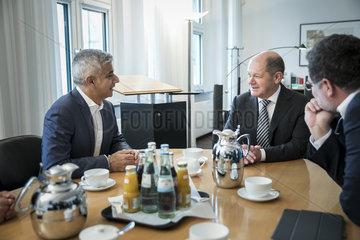 Olaf Scholz trifft Sadiq Khan