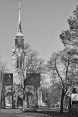 Church  Christuskirche Church  Klotzsche  Dresden  Germany  Black and White work