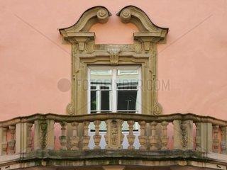 Historische Balkonarchitektur  Esslingen  Deutschland