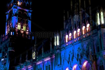 Marienplatz Rathaus beleuchtet