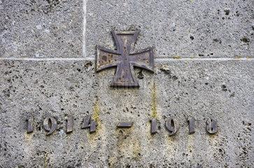 Gedenkstaette fuer die Opfer des Ersten Weltkriegs 1914 bis 1918