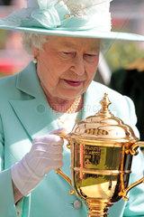 Ascot  Grossbritannien  Queen Elisabeth II  Koenigin von Grossbritannien und Nordirland