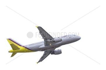 Ein Airbus A319 der Fluggesellschaft Germanwings waehrend des Startens