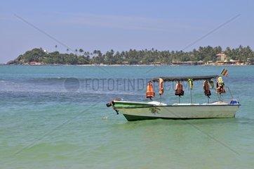 Glasbodenboot  Unawatuna  Sri Lanka  Ceylon  Suedasien  Asien