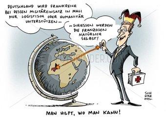 Unterstuetzung fuer Mali