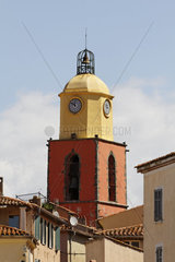 Saint Tropez  parish church  Eglise paroissiale Notre-Dame-de-l Assomption from the 16th century  Cote dAzur  French Riviera  Southern France  Europe