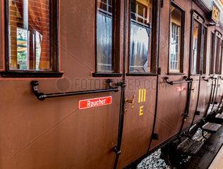 restaurierter preussischer Abteilwagen der Gattung C 3 aus dem Jahr 1902