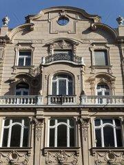 Jugendstil Hausfassade in Budapest  Secessions Stil
