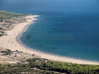 Bolonia  Tarifa  Spanien  costa de la luz Blick auf den Strand von oben von den Bergen