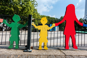figures at a children s playground