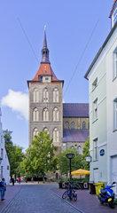 Blick auf die Rostocker Marienkirche  Rostock  Ostdeutschland