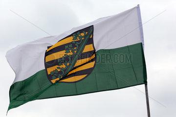 Leipzig  Deutschland  Landesdienstflagge von Sachsen