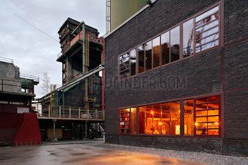 Essen  Deutschland  Restaurant in einem ehemaligen Industriegebaeude auf der Zeche Zollverein