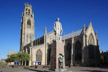 UK  England  Lincolnshire  Boston  church of St Botolph  Herbert Ingram statue