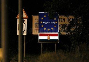 Ungarischer Grenzuebergang