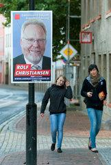 Goldberg  Deutschland  Wahlplakat der CDU fuer die Landratswahlen am 4. September 2011
