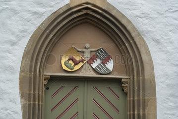 Wappen des Adelgeschlechts Limpurg  Urbanskirche  Schwaebisch Hall
