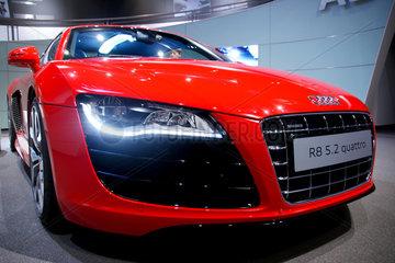 Wolfsburg  Deutschland  ein Audi R8 5.2 quattro in der Autostadt