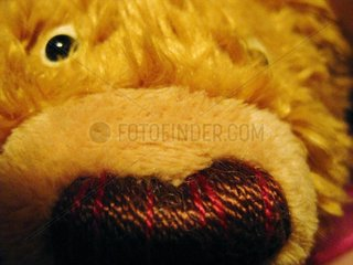 Teddy Baer plush bear toy macro