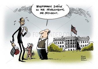 Obama als Praesident der USA wiedergewaehlt