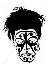 Maori tribal Gesicht face Gesichtsbemalung