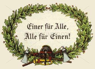 Feuerwehr-Motto 1897