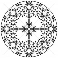 Ornament Sterne Schneekristall stars snow crystal snowflake 4