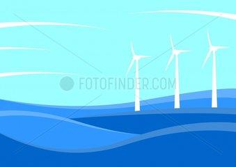 Windkraft Windfarm erneuerbare Energien renewable energy sources Serie