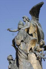 Altare della Patria Skulpturgruppe in Rom