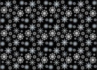Ornament Schneeflocken