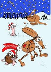Weihnachten mit Kleintieren und Friedel