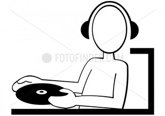 DJ music musik lifestyle people pictogramm